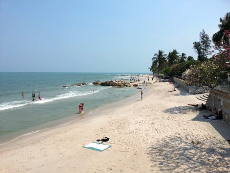 City centre beach in Hua Hin