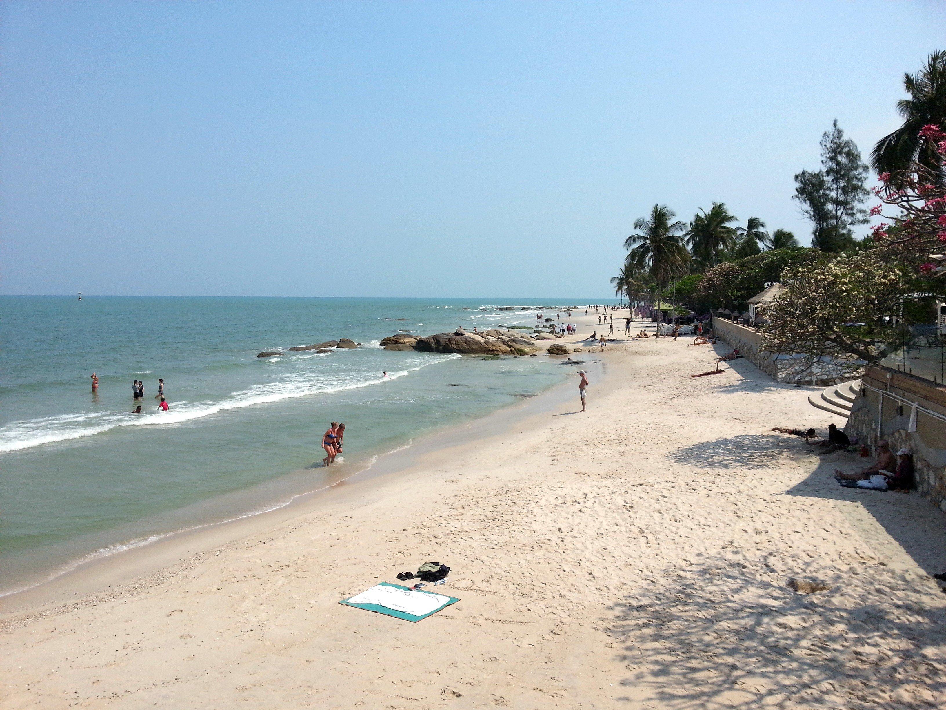 City centre beach in Hua Hin