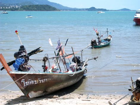 Fishing boats in Koh Samui