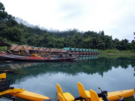 Floating bungalows in Khao Sok National Park