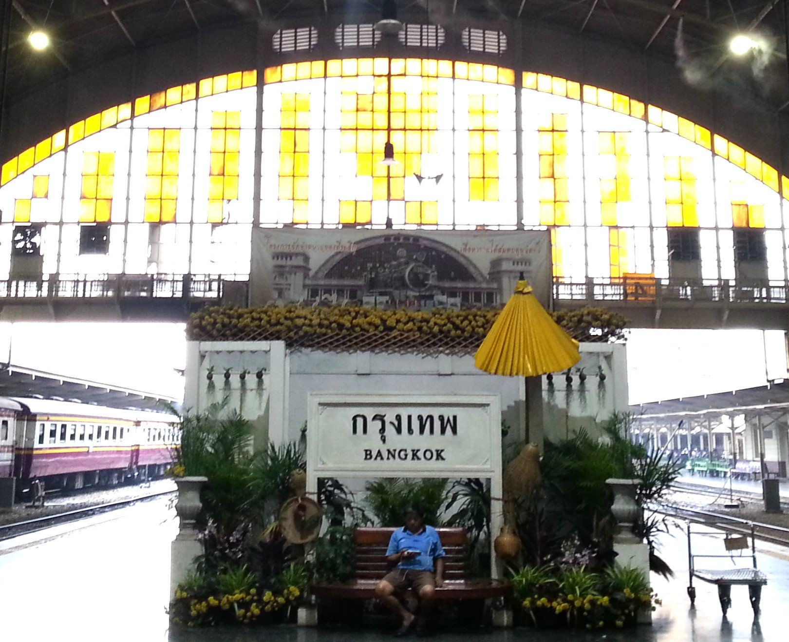 Hua Lamphong Railway Station in Bangkok