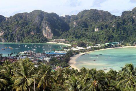 Main town in Koh Phi Phi