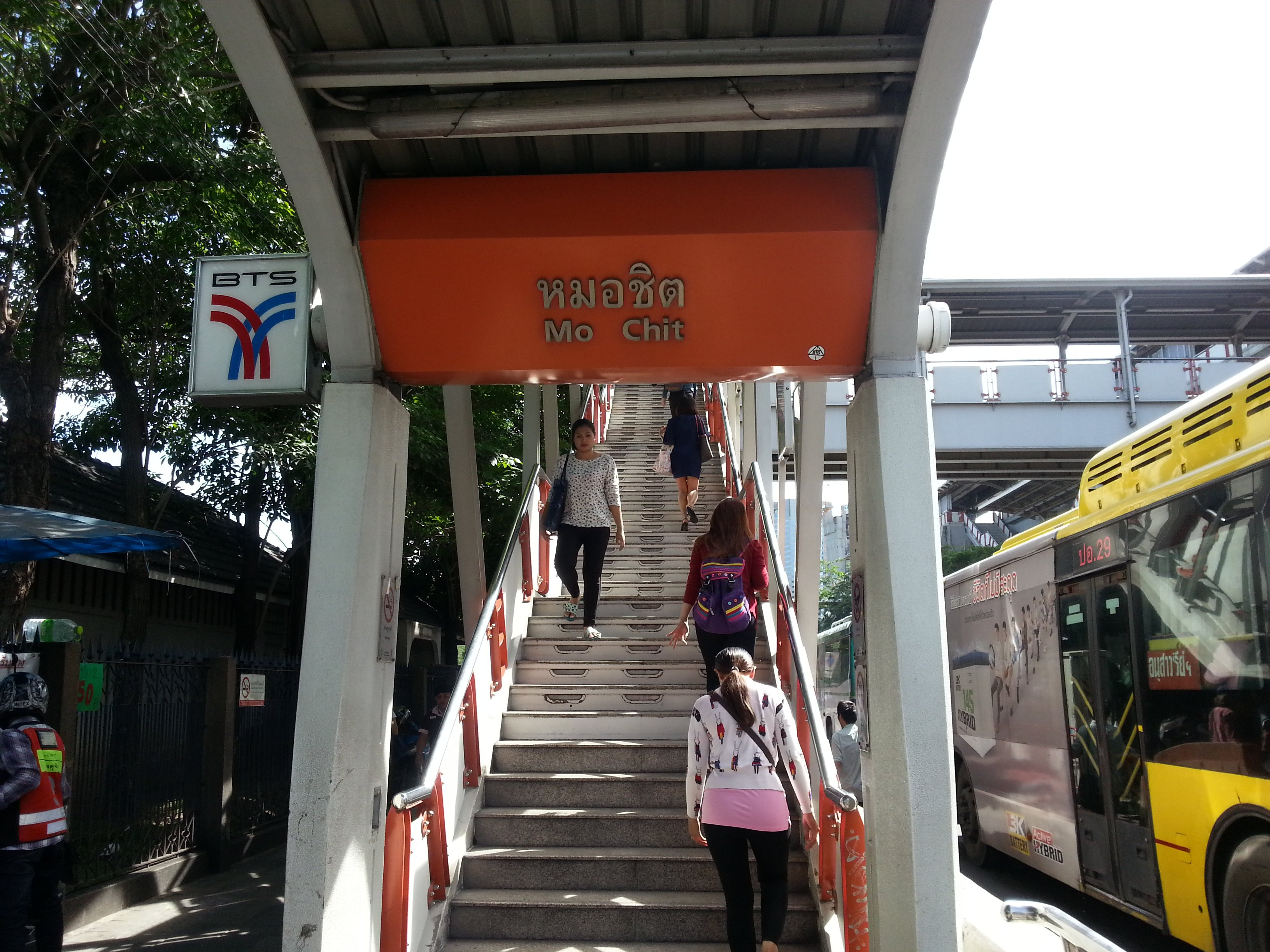Mo Chit BTS station in Bangkok