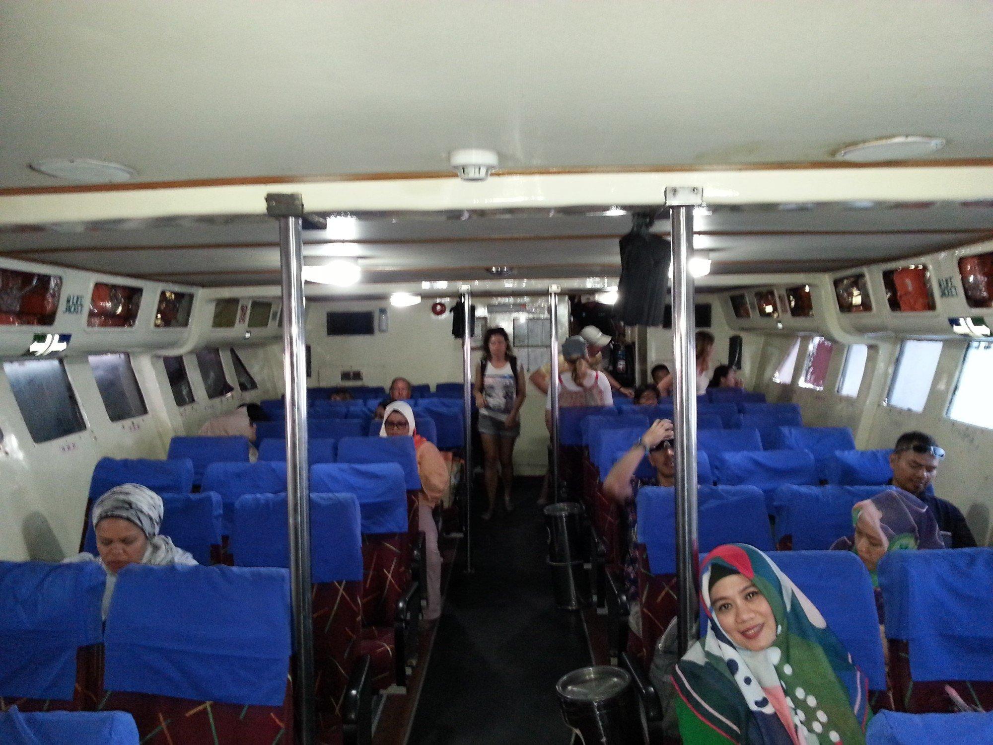 Inside the Koh Lipe to Langkawi ferry