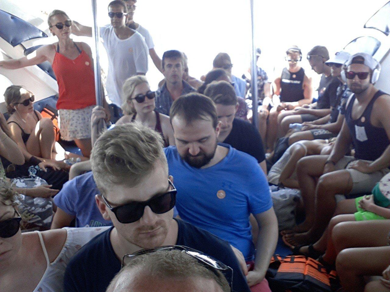 On board the Bundhaya Speed Boat
