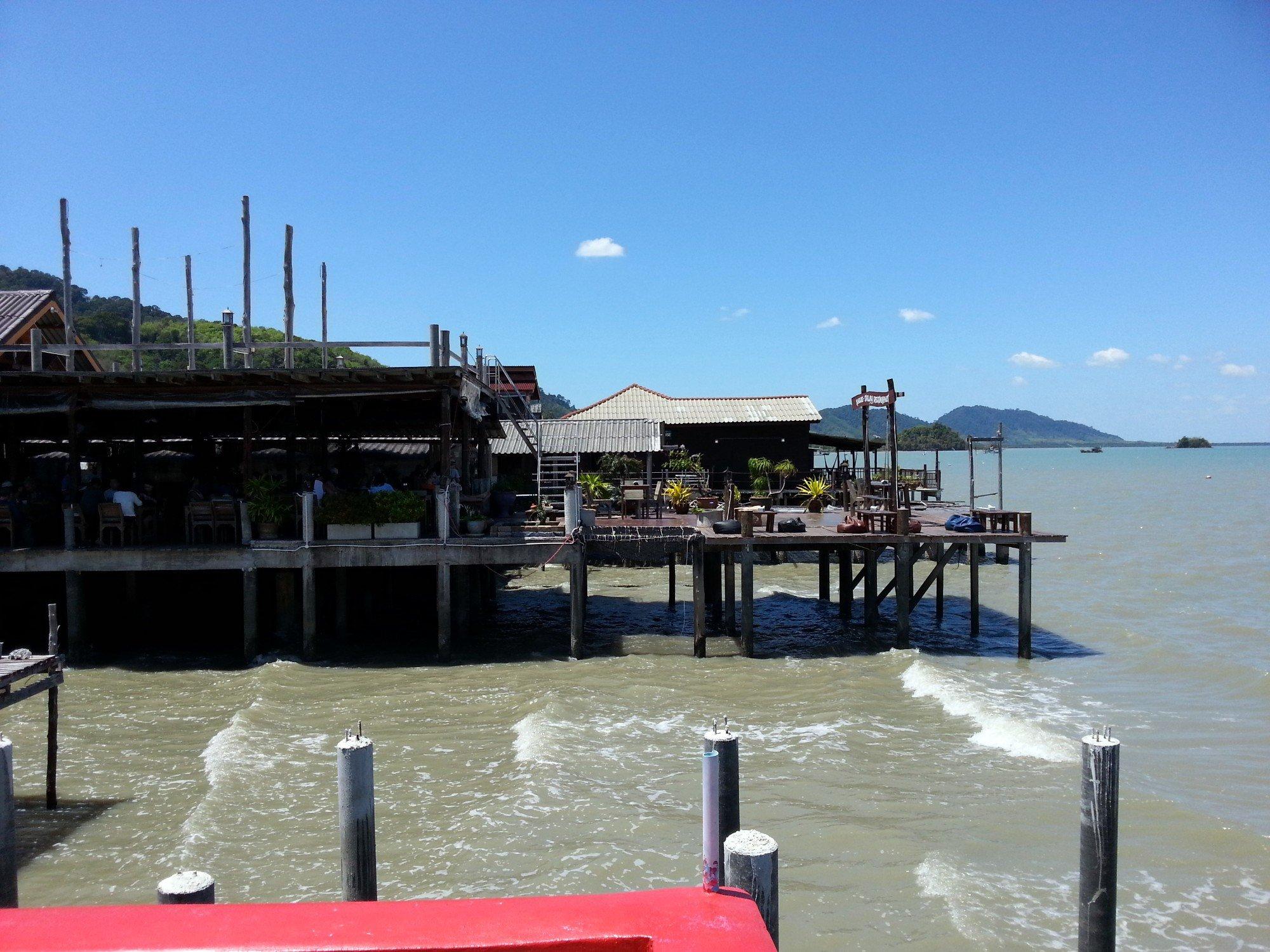 Seafront restaurants in Koh Lanta Old Town