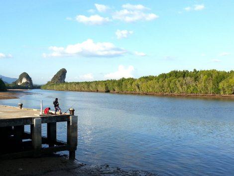 Riverside in Krabi Town