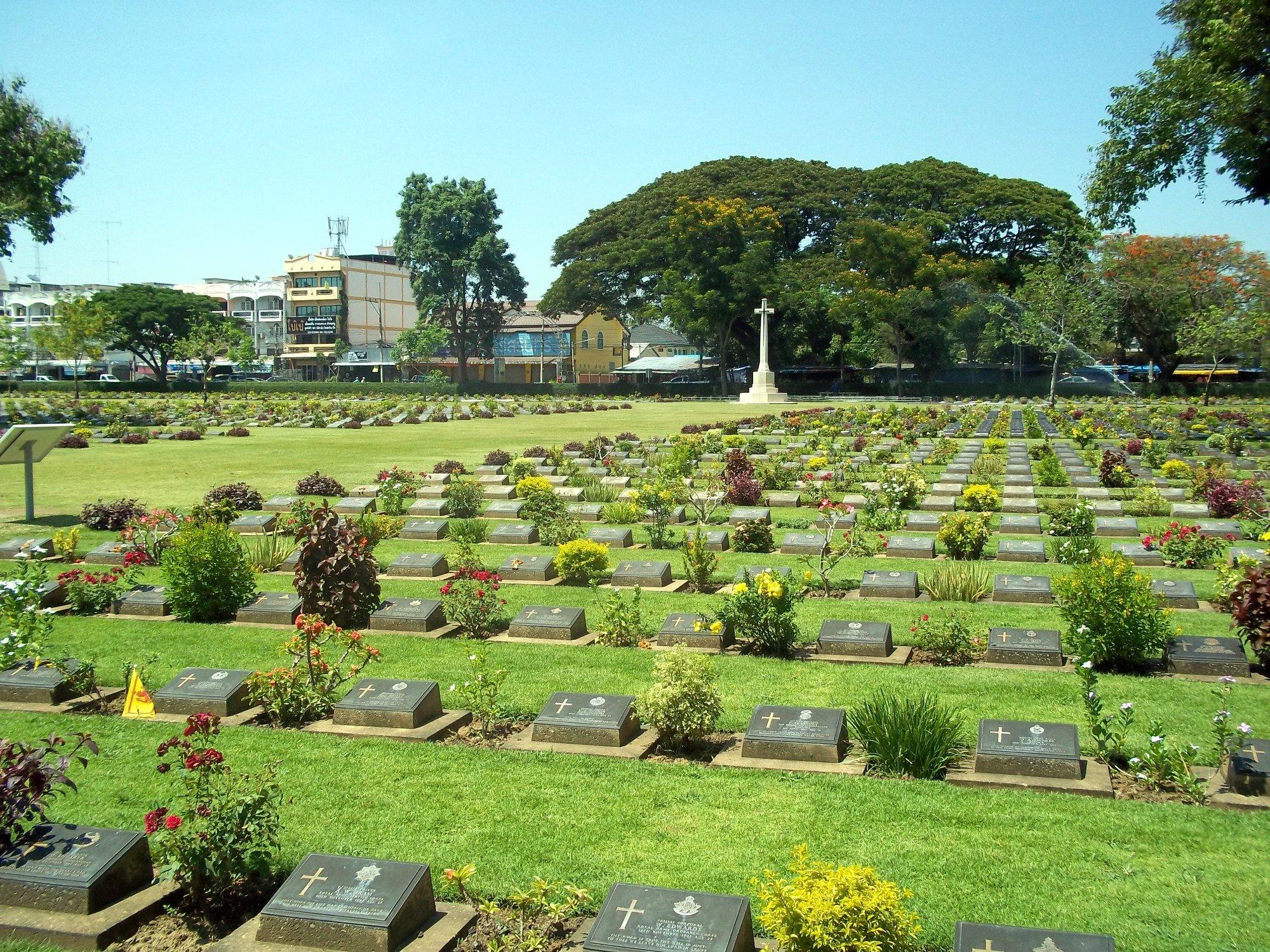 Chung Kai War Cemetery in Kanchanaburi