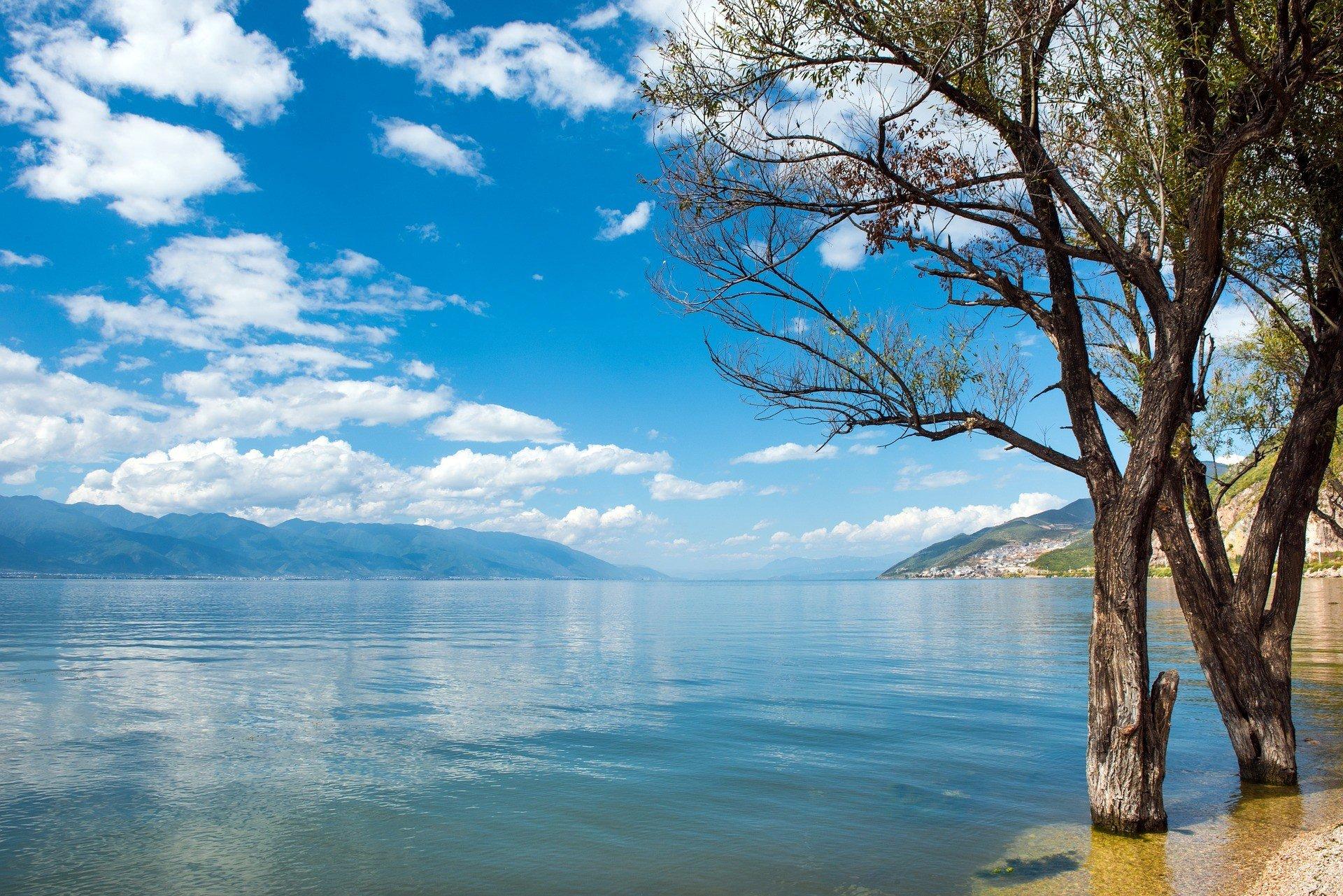Erhai Lake in Dali, Yunnan Province