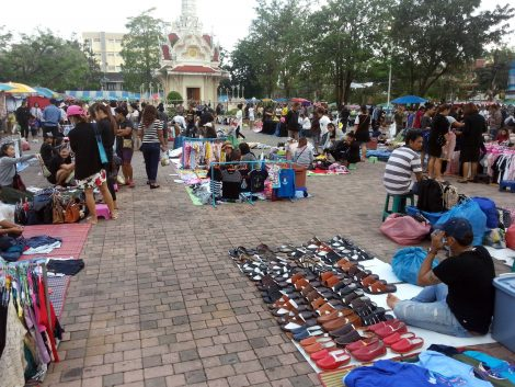Market by Chumphon City Pillar Shrine