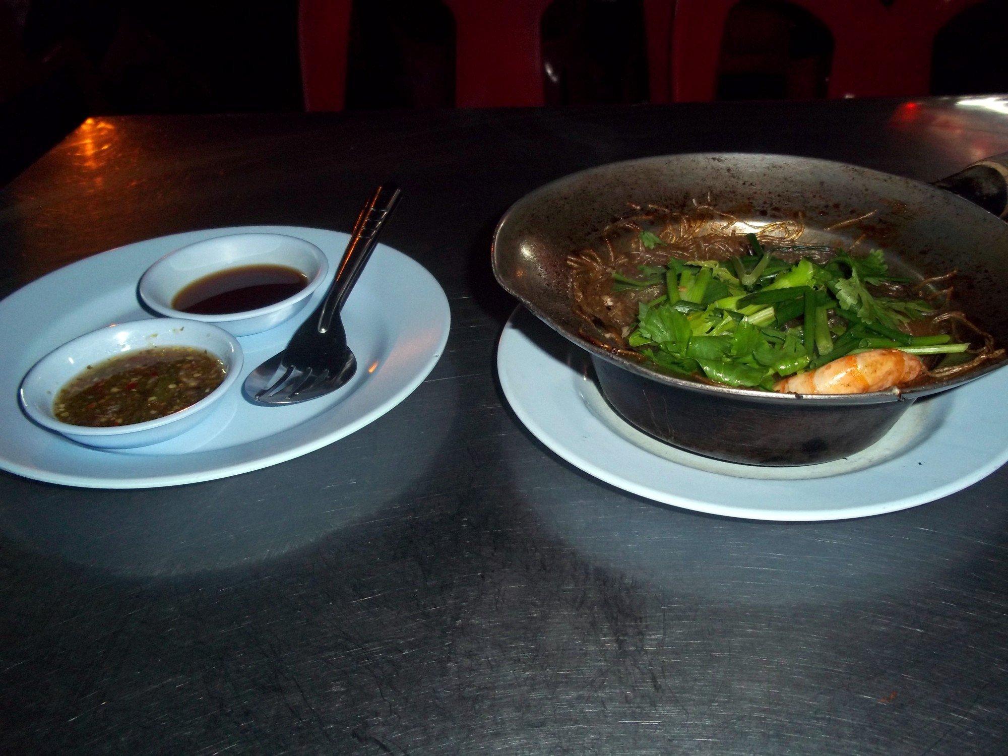 Noodles at Ban Lan Night Market in Ayutthaya