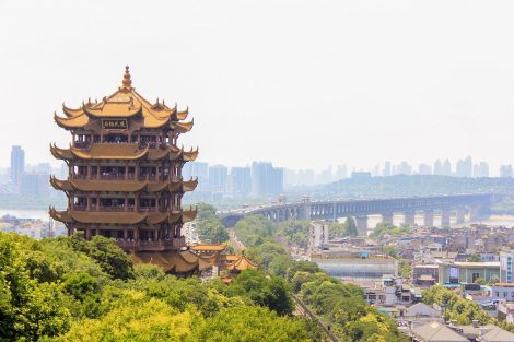 Yellow Crane Tower in Wuhan, Hubei Province