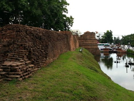 City walls around Chiang Mai Old Town
