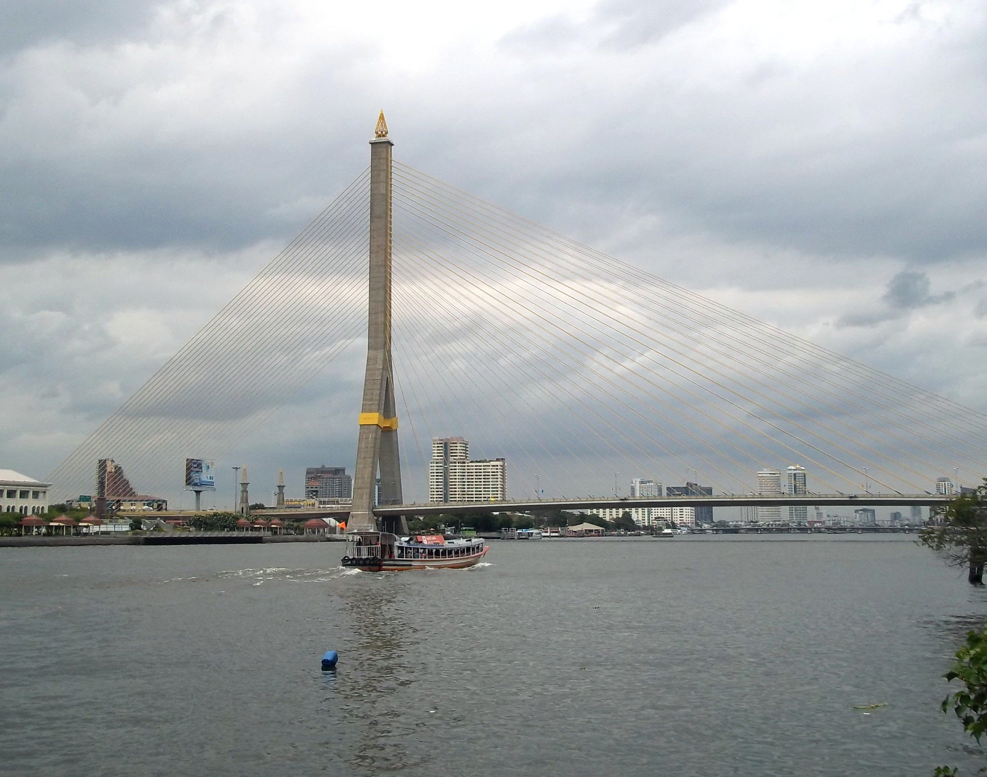 Rama VIII Bridge in Bangkok