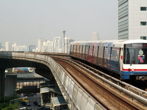BTS or 'Sky Train' in Bangkok