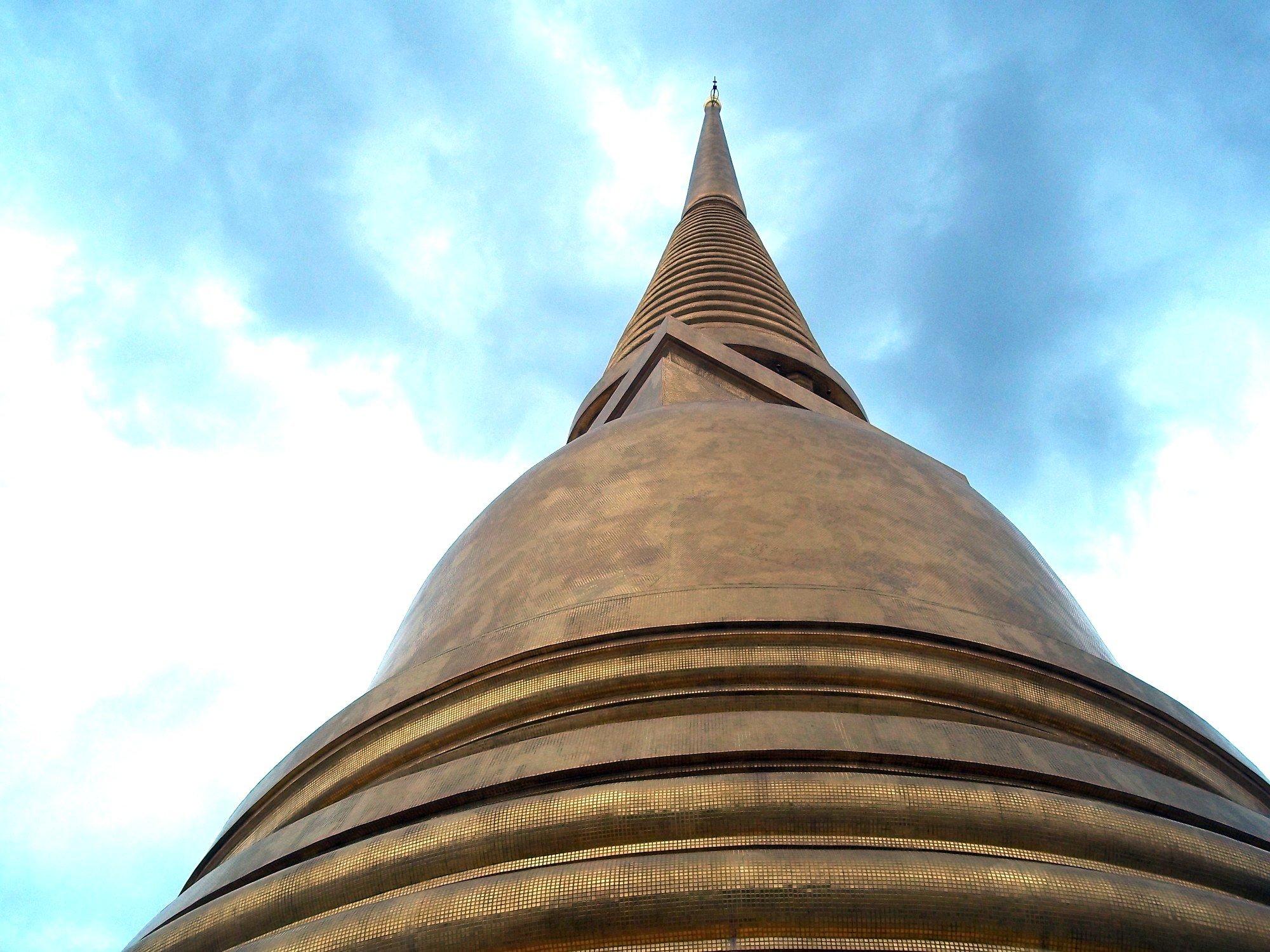 Chedi at Wat Bowonniwet in Bangkok