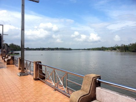 Riverside promenade in Surat Thani