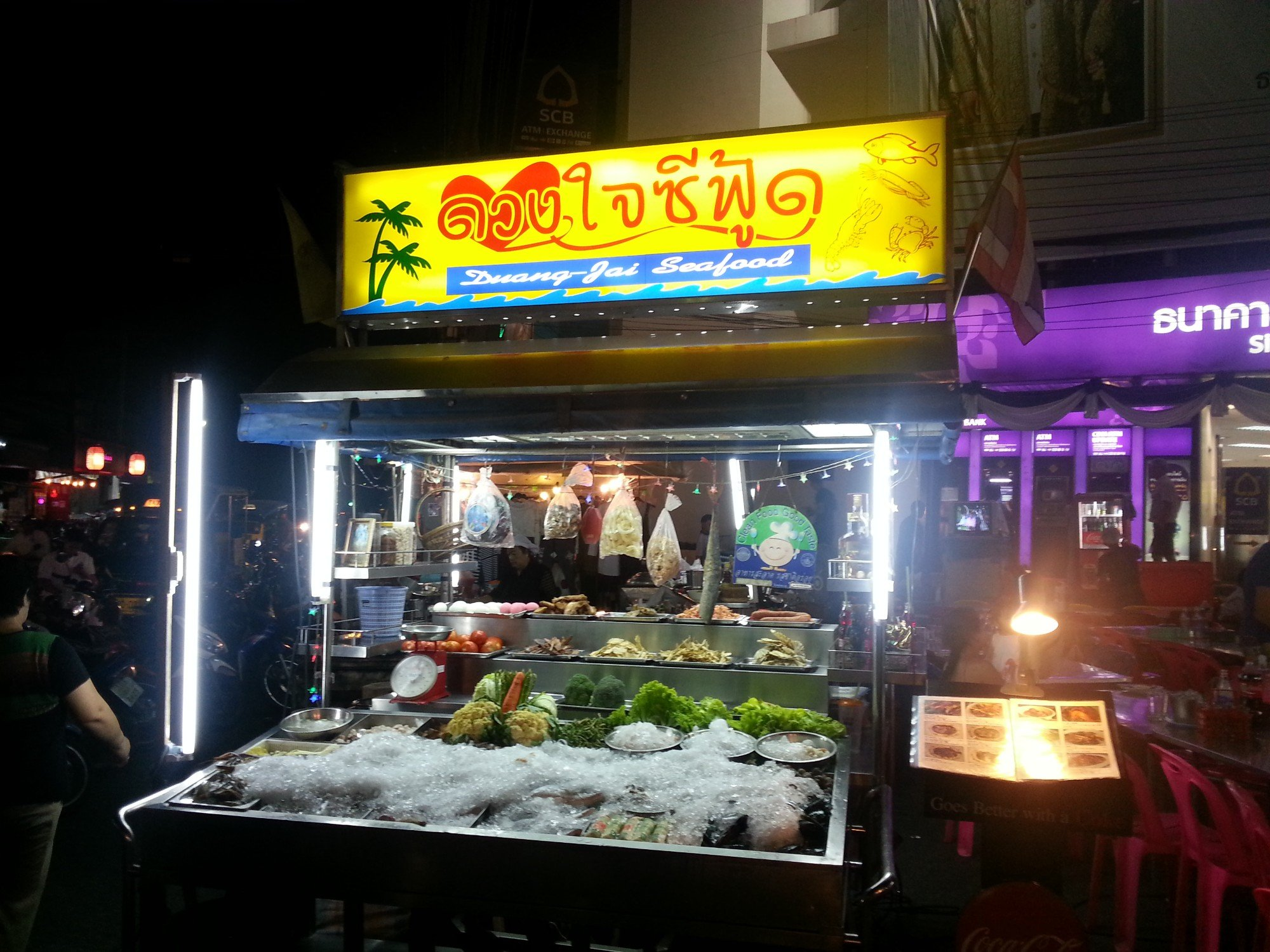 Seafood stall at Hua Hin Night Market
