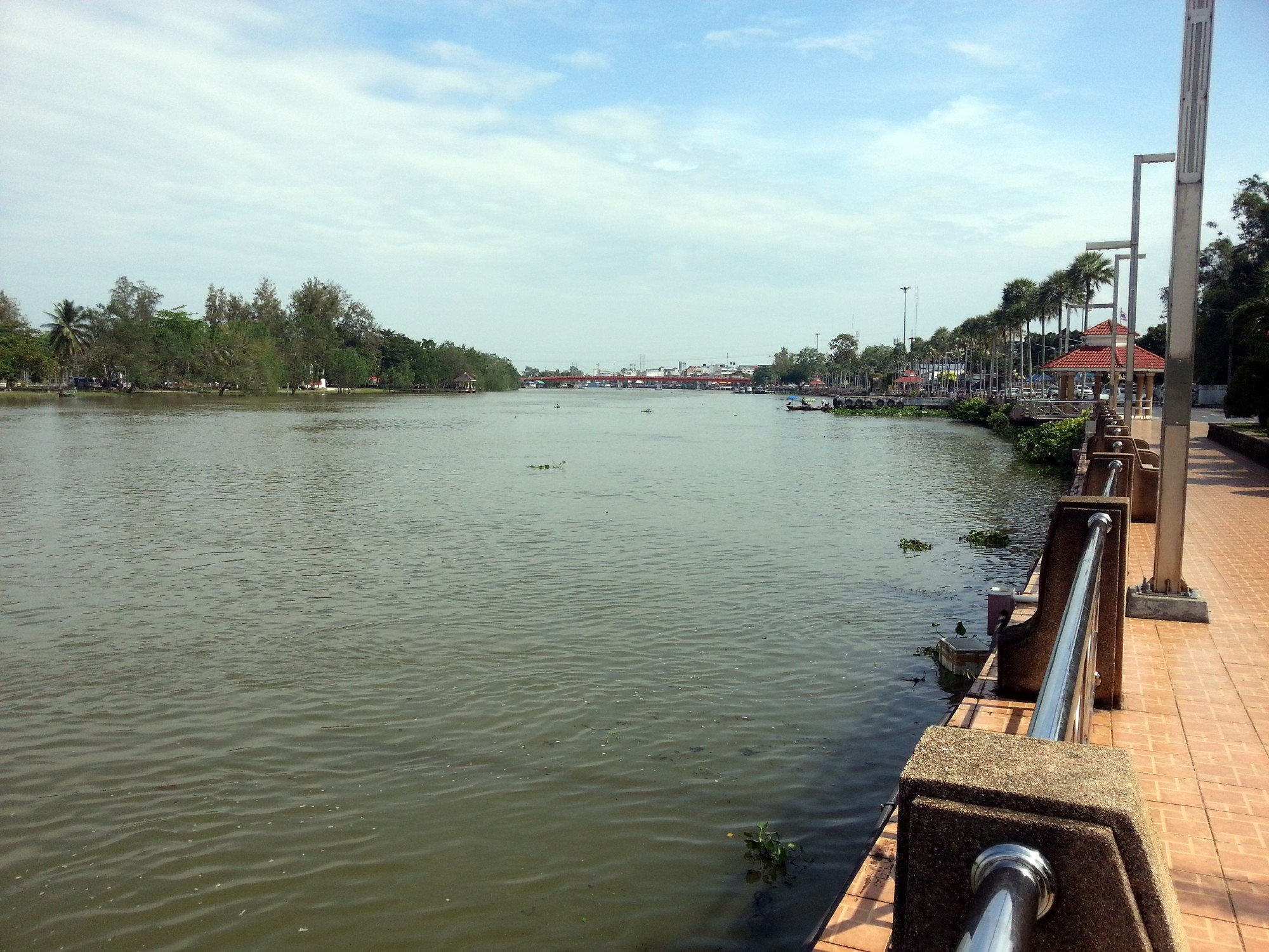 Tapee River in Surat Thani City Centre