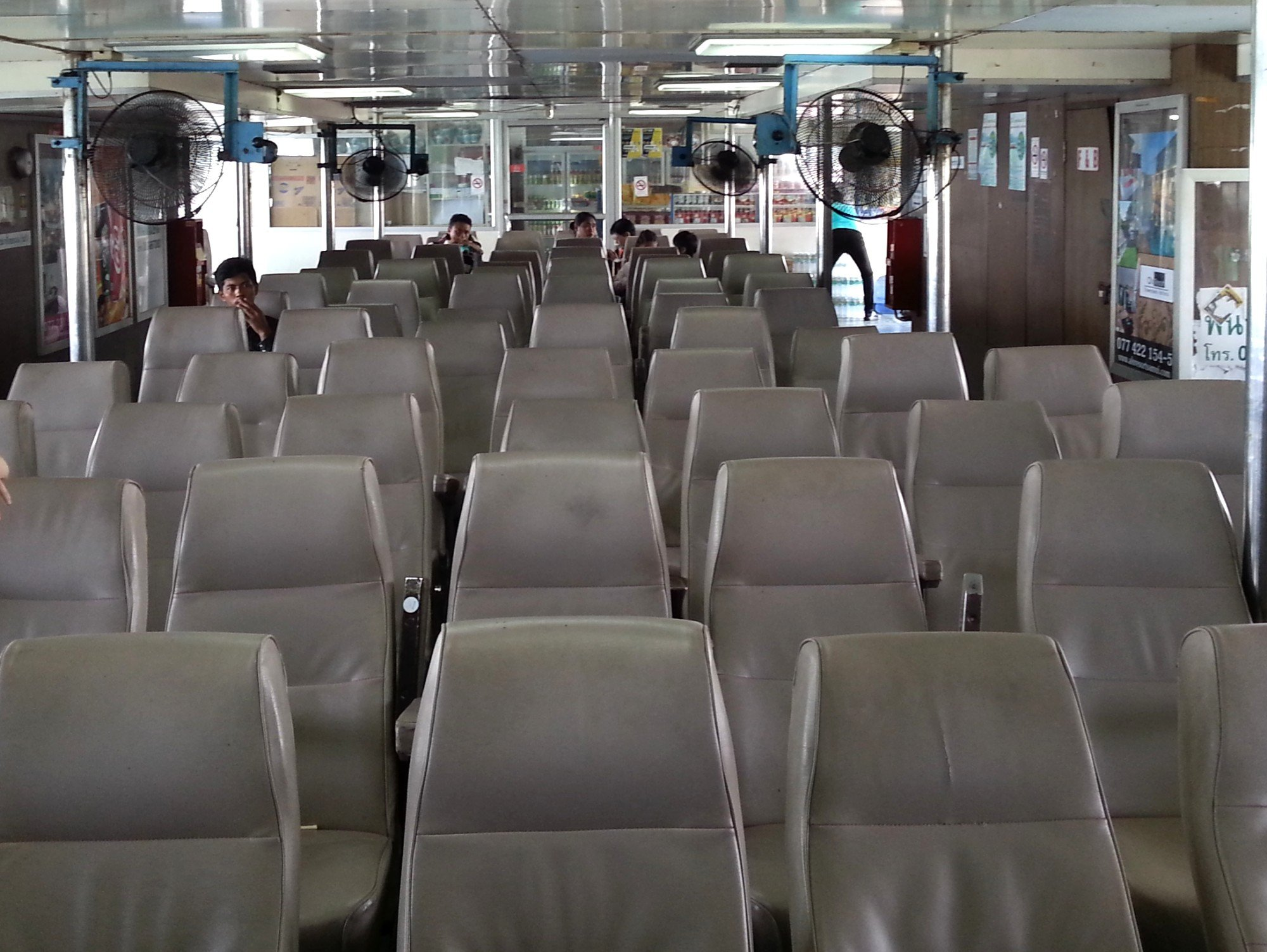 Inside seating area on the Raja Ferry