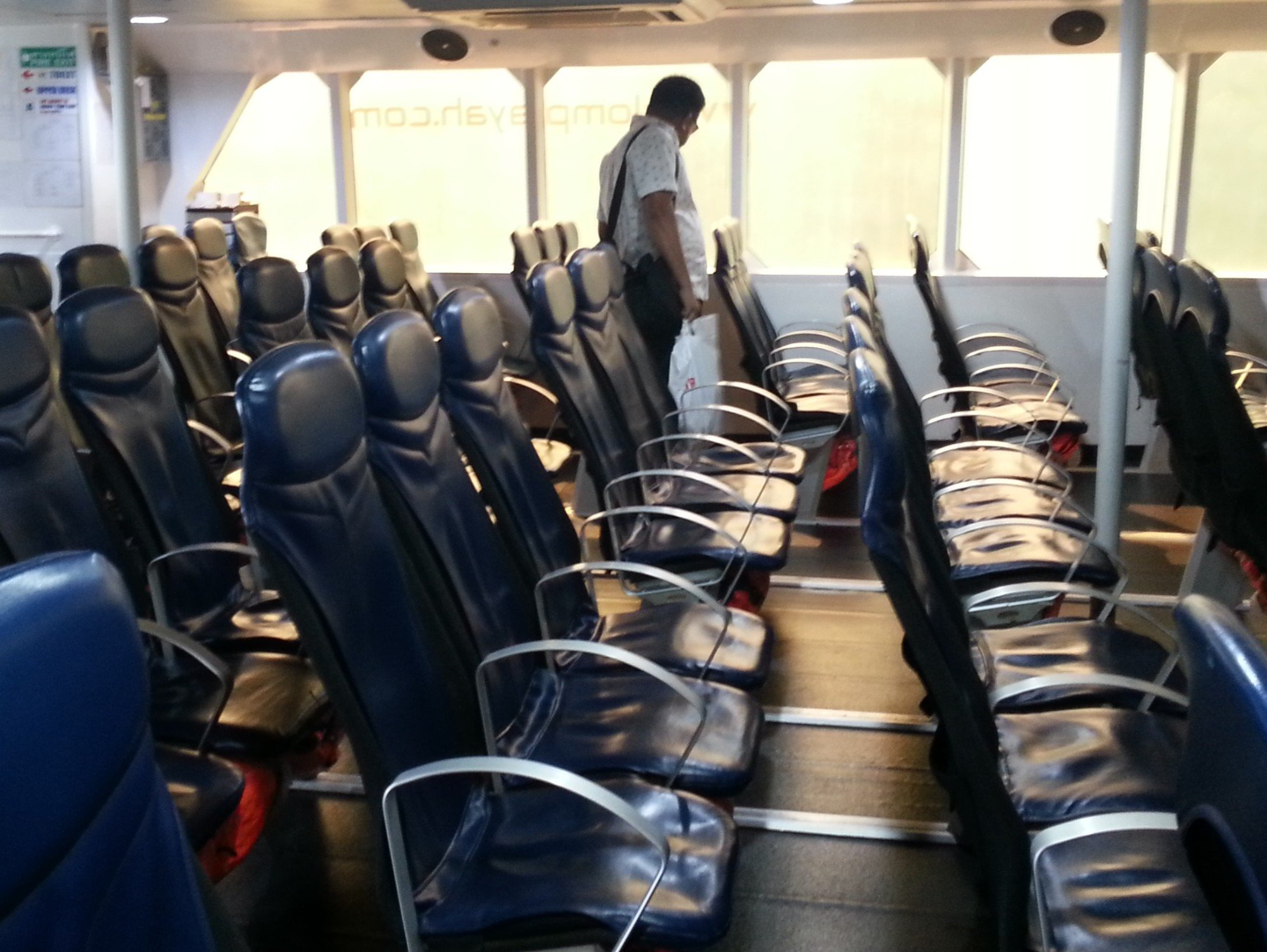 Seating on the Lomprayah Ferry