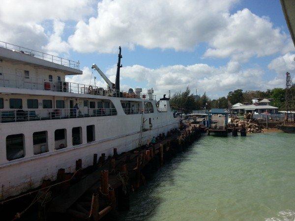Ferry arriving into Donsak