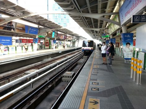One of many public transport systems in Bangkok
