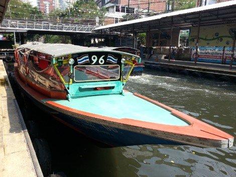 Khlong Saen Saep canal boat
