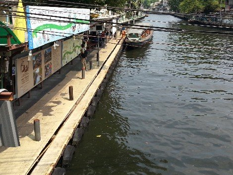 Phanfa Bridge Pier for Khlong Saen Saep canal boats