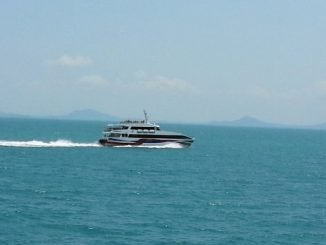 Lomprayah High Speed Ferry on route from Koh Phangan to Koh Samui