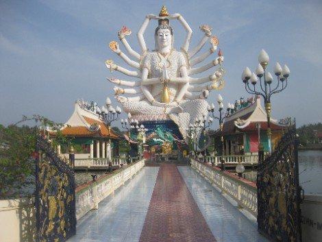 Wat Plai Laem Temple in Koh Samui