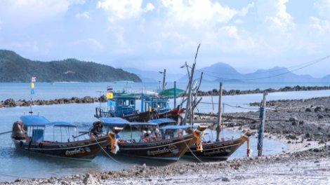 Fishing boats in Koh Samui
