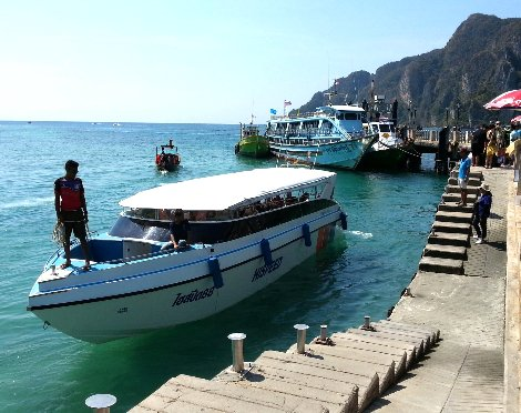 Speed boat service from Tonsai Pier in Koh Phi Phi