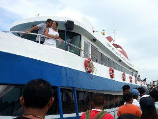 Boarding the Songserm Ferry to Donsak