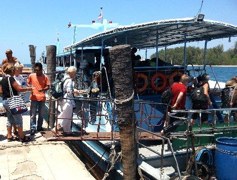 Ferry service departing from Saladan Pier in Koh Lanta